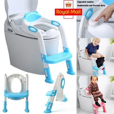 Portable Childrens Toilet Seat Ladder Toddler Potty Training Step Up For Kids UK • 13.94£