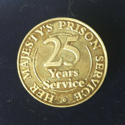 HMP Prison  RM Long Service ( 25 Years ) Lapel Pin Medal In Sterling Silver • 19.99£