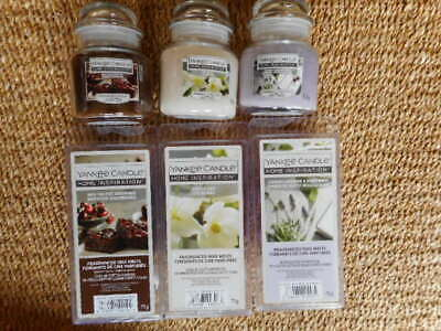 Yankee Candle White Lily Lavender White Birch Red Velvet Brown Jars Wax  Melts  • 16£