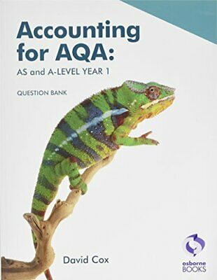 £11.70 • Buy Accounting For AQA: AS And A-Level Year 1 Question Bank By David Cox (Paperback)