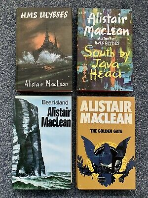 ALISTAIR MacLEAN COLLECTION - 4 COLLINS HARDBACK - 1960's - 70's • 6£