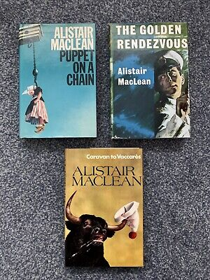ALISTAIR MacLEAN COLLECTION - 3 COLLINS HARDBACK - 1960's - 70's • 5£