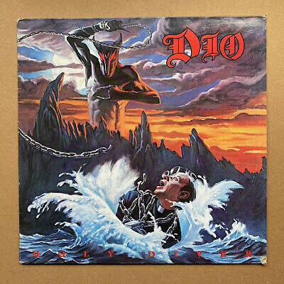 DIO HOLY DIVER LP 1973 - Nice Clean Copy With Inner Sleeve , Small Tear Bottom R • 34£