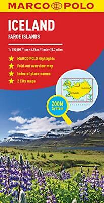 Iceland Marco Polo Map By Marco Polo Travel Publishing (2020) • 7.30£