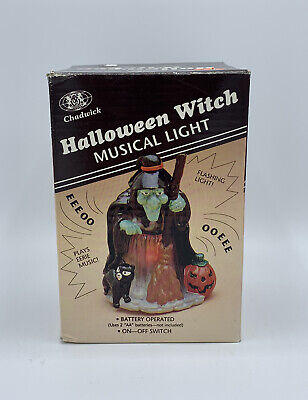 $ CDN38.11 • Buy Vintage 1989 Chadwick Halloween Witch Musical Light Blow Mold Battery Operated