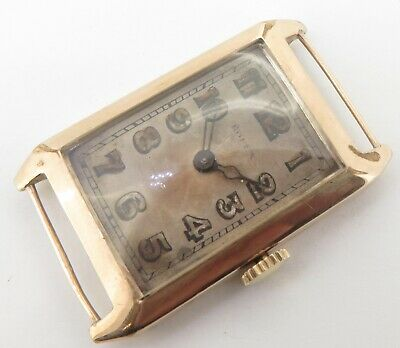 $ CDN479.47 • Buy Vintage 1927 Rolex Hinged 9ct Gold Rectangular Hinged Case Wrist Watch $1 N/R