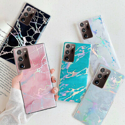 $ CDN4.25 • Buy For Samsung S20 FE Note 10 S10 S9 S8 Colorful Marble Silicone Soft Case Cover