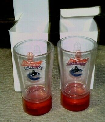 $ CDN29.95 • Buy Budweiser Red Light Glasses Vancouver Canucks Lot Of 2 New In Boxes