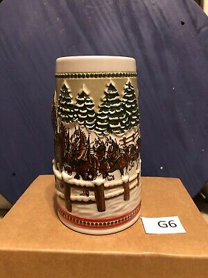 $ CDN0.65 • Buy Ceramarte CS62 1984 Budweiser Holiday Stein  Covered Bridge