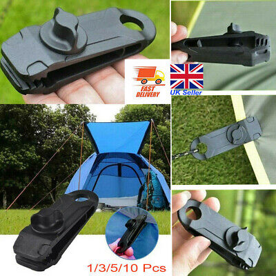 Reusable Tent Tarp Tarpaulin Clip Clamp Buckle Camping Heavy Duty 1/3/5/10Pcs UK • 4.42£