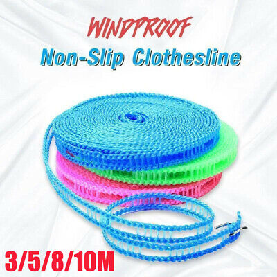 10M Non-slip Nylon Washing Clothesline Outdoor Travel Camping Clothes Line Rope • 5.69£
