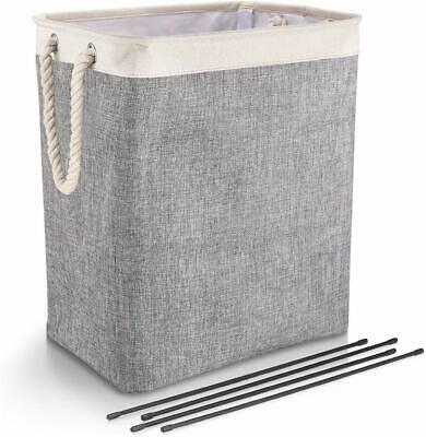 LAUNDRY WASHING DIRTY CLOTHES BASKET BIN FOLDABLE STORAGE BAG HAMPER Rope Handle • 12.99£