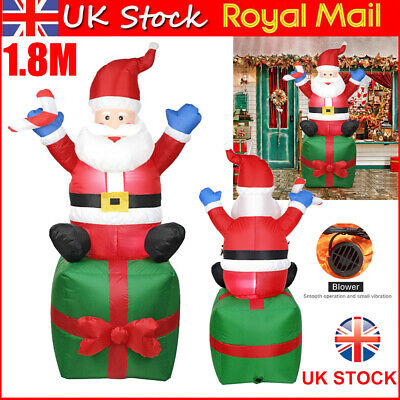 Christmas 1.8M Giant Inflatable LED Light Up Santa Claus Decoration Outdoor Xmas • 40.86£