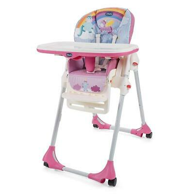 Chicco Polly Easy Highchair 4Wheel (Unicorn) - Multiple Heights • 79£