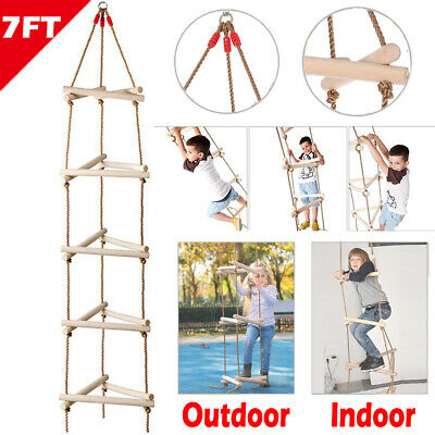 £35.96 • Buy Tree Climbing Rope Ladder Swing Set Triangle Indoor Outdoor Garden Sports Toy 2M