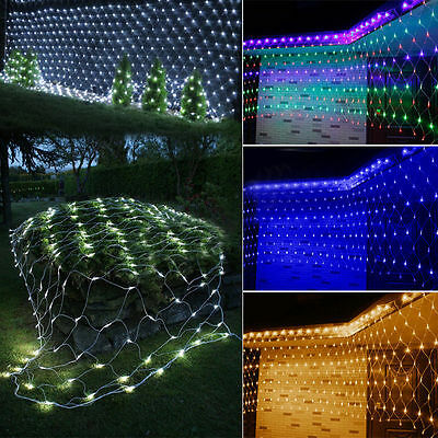 Christmas Trees Outdoor Garden Party Decor LED Net Lights Mesh Festival Lamps • 6.99£