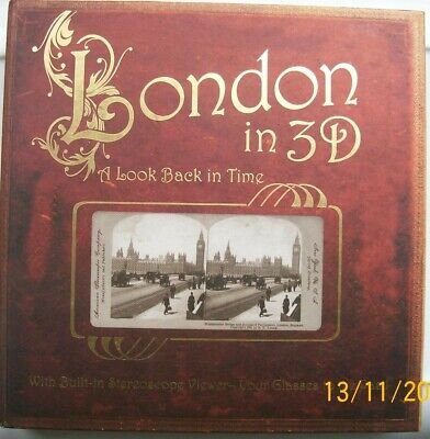 London In 3D - A Look Back In Time Book With Built In Stereoscope Viewer • 14.99£