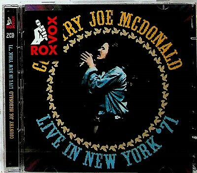 Country Joe McDonald -Live In New York 1971 -2-CD -NEW (& The Fish/Solo Work) • 5.99£
