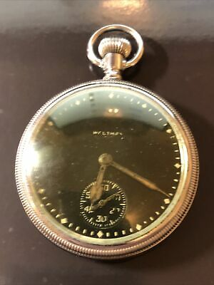 Ww2 British Military Issue Waltham Pocket Watch Coin Edge Screw Back Working • 75£