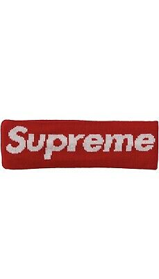 $ CDN15 • Buy Supreme Headband Box Big Logo Red White New