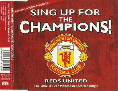 ID1177z - Manchester United Football Team - Sing Up For The Cham • 5.75£