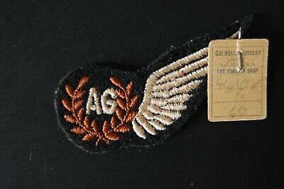 WW2 RAF British Air Gunners Brevet Half Wing Patch Badge. Mint Condition • 10£