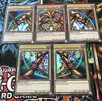 YuGiOh! Exodia The Forbidden One Full Set:All 5 Cards/pieces- New • 15£