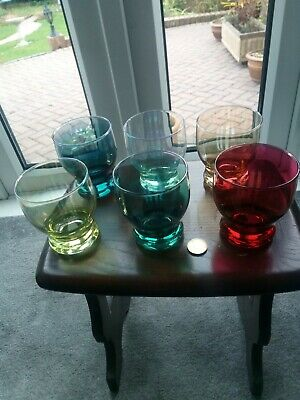 Harlequin Glasses Multiple Coloured With A Pearlescent  Gleam • 19.99£