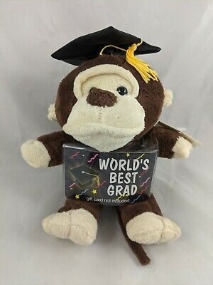 $ CDN11.06 • Buy Dan Dee Monkey Plush Graduation Card Money Holder 9  Stuffed Animal Toy