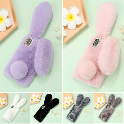 Diamond Bunny Ears Case Fluffy Furry Cover For IPhone 12 Pro Max 11 SE XR 8 7 6S • 5.49£