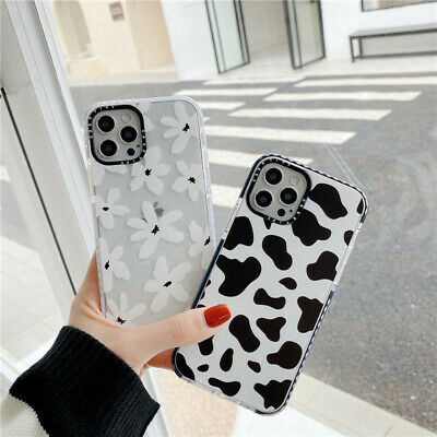 AU7.99 • Buy For IPhone 12 11 Pro Max XS XR 7 8 Cute Cartoon Floral Cow Shockproof Phone Case