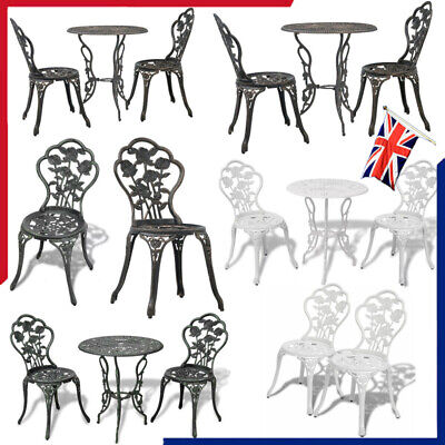 Patio Set Bistro Table And Chairs Garden Furniture Outdoor Design Dining Chairs • 143.60£