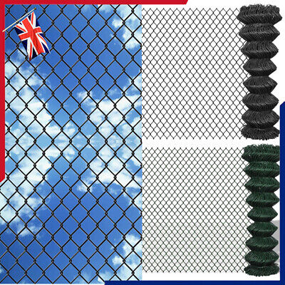 Chain Link Fence Garden Patio Galvanised Steel Fencing Roll Mesh Barrier Panel • 78.17£