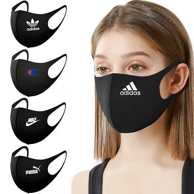 2pc Brand Face Mask Cover Washable Reusable Dust Proof Fashion Breathable Fabric • 5.40£