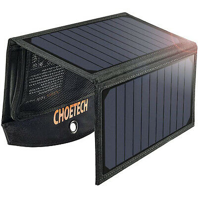 £42.36 • Buy CHOETECH 19W Dual USB Solar Panels Charging Charger For IPhone X /8 Plus /7 Plus
