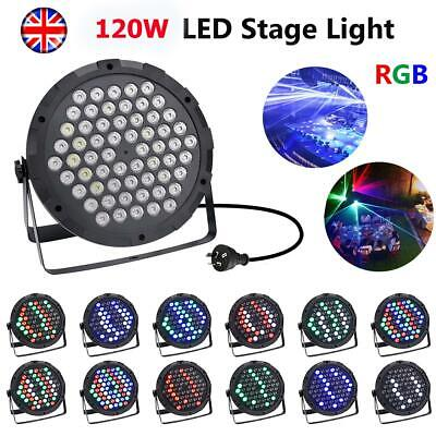 100W RGB Spot LED Stage Lighting Moving Head Sound Active Disco Party UK Plug • 7.69£