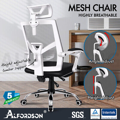 AU169.85 • Buy ALFORDSON Mesh Office Chair Gaming Executive Seat Adjustable Footrest Recline