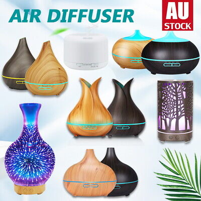 AU25.39 • Buy Aroma Aromatherapy Diffuser LED Essential Oil Ultrasonic Air Humidifier Purifier