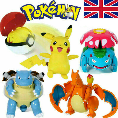 Pokeball Ball Transformation Toy Kids Action Figure Suit Deformation Gift • 15.48£