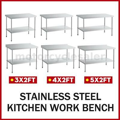 £130.99 • Buy Commercial 3-5FT Stainless Steel Top Kitchen Catering Work Table Bench Worktop