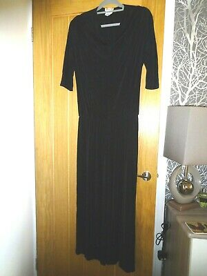 KIM & CO JUMP SUIT Black M From Q V C  Cowl Neckline  Sleeves To Elbow 28 In Leg • 1.99£