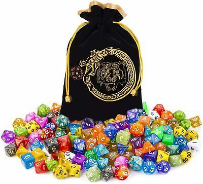 AU40.99 • Buy DND Dice Set, 140PCS Polyhedral Game Dice, 20 Set Double Color DND Role Playing