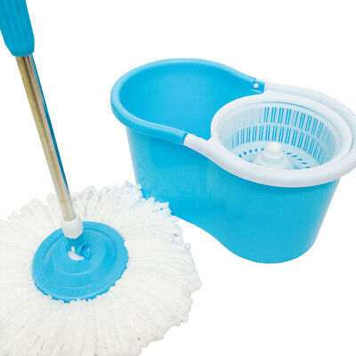 £11.39 • Buy 360° Floor Magic Spin Mop Bucket Set Microfiber Rotating Dry Heads With 2 Heads