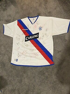 Signed Rangers 2004/05 Away Shirt (signed By 2005/06 Squad) • 50£