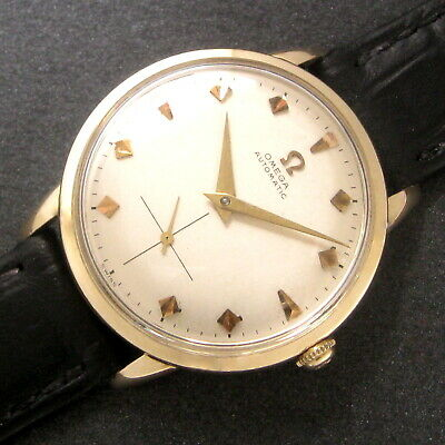 $ CDN13.69 • Buy Mens Original 1952 Omega 14K SOLID GOLD Bumper Automatic 17j Vintage Swiss Watch