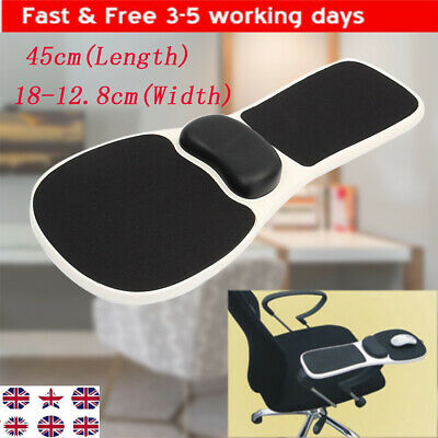 Computer Elbow Arm Rest Support Chair Desk Armrest Home Office Wrist Mouse Pad • 19.88£