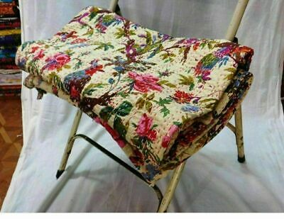Indian Handmade Vintage Kantha Quilt Bedspread Throw Cotton Blanket Bird Bedding • 26.99£