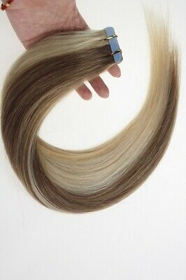 14  Tape-In Russian Remy Human Hair Extensions 30g 20pcs #M12/613 UK • 12.99£