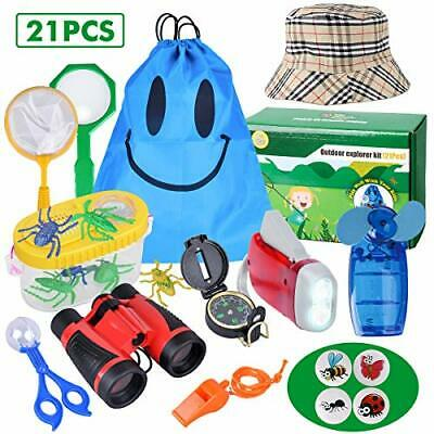 Outdoor Explorer Kit - 21 Pack Kids Bug Catcher Toys Gifts For 3 4 5 6-10 Years • 24.99£