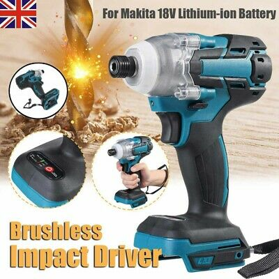 18V 520Nm Brushless Cordless Screwdriver Torque Impact Wrench W/ Battery Charger • 42.99£